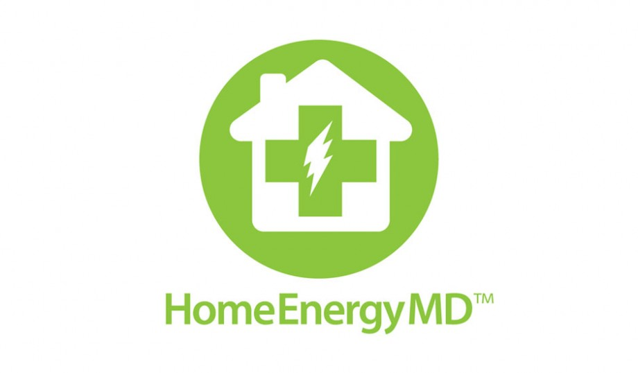 Logo design for HomeEnergyMD, a home energy audit service in Twinsburg, Ohio.