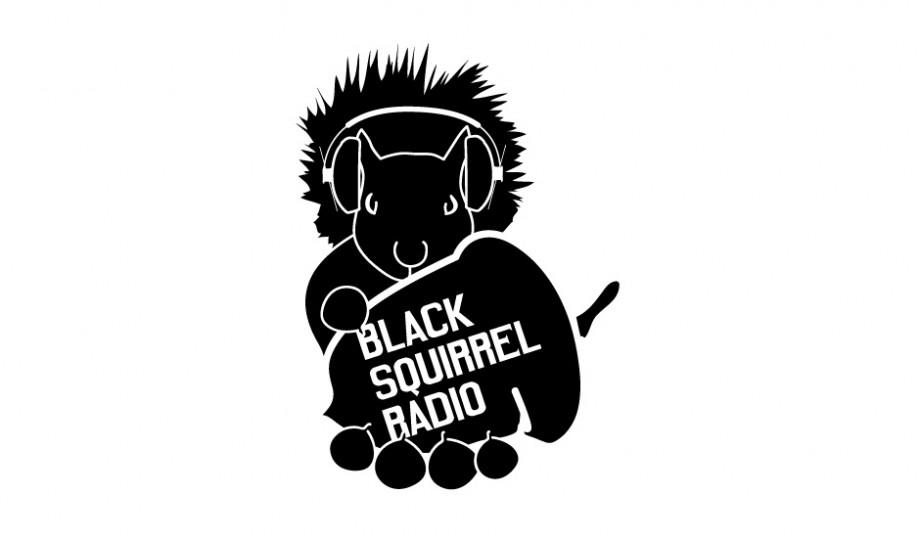 Logo design for Black Squirrel Radio, Kent State's student-run station.