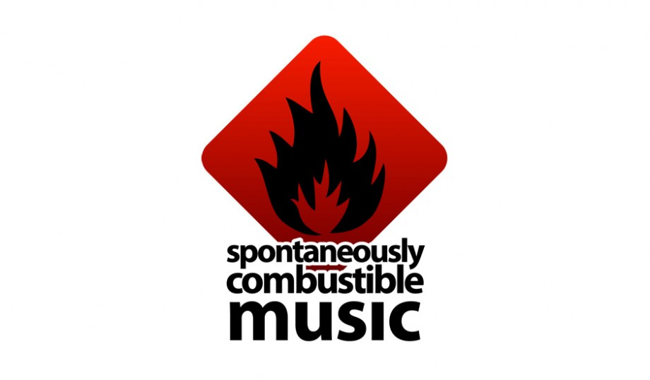 Logo and identity design for Spontaneously Combustible Music, an asheville music company.