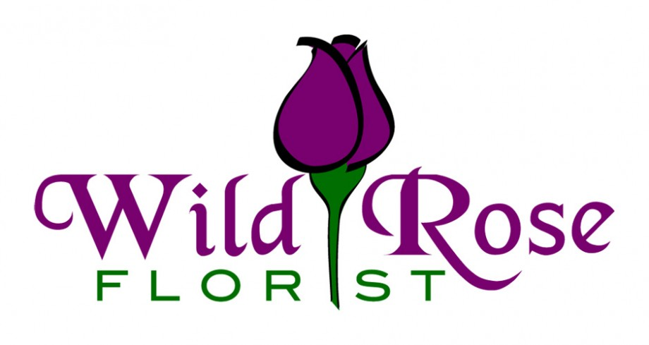 Logo design for Wild Rose Florist, based in Melbourne Australia