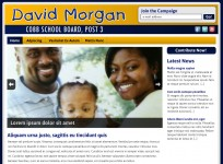 David Morgan - Political Website Custom Wordpress Design