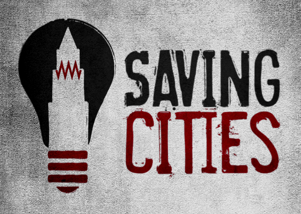 Logo design for Saving Cities, a company dedicated to help revitalize the rust belt.