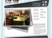 Tip-Top Stow - Custom restaurant Wordpress design