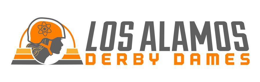 LADD Los Alamos Derby Dames logo designs - horizontal lockup - r