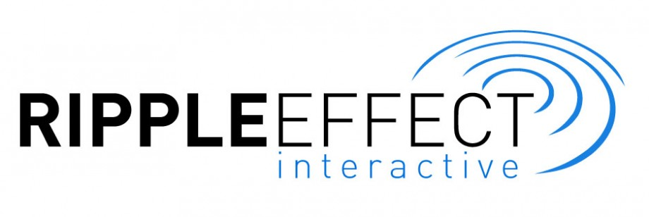 Logo design for Ripple Effect Interactive, a Cleveland digital publishing company.