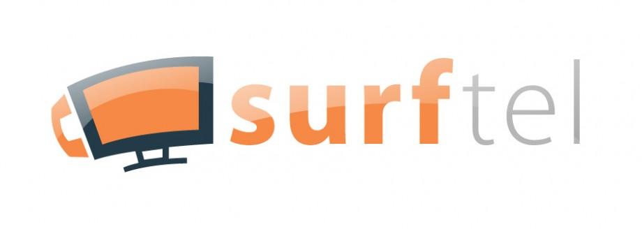 Logo design for SurfTel, a european digital phone service