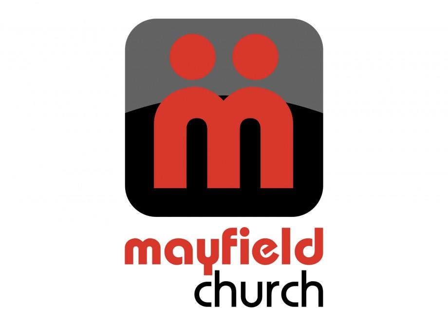 Logo design for Mayfield Church, a methodist church in Mayfield, Ohio.