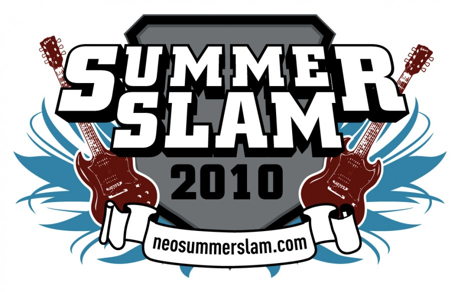 Logo design for Summer Slam 2010, a music festival based in Hudson, Ohio.