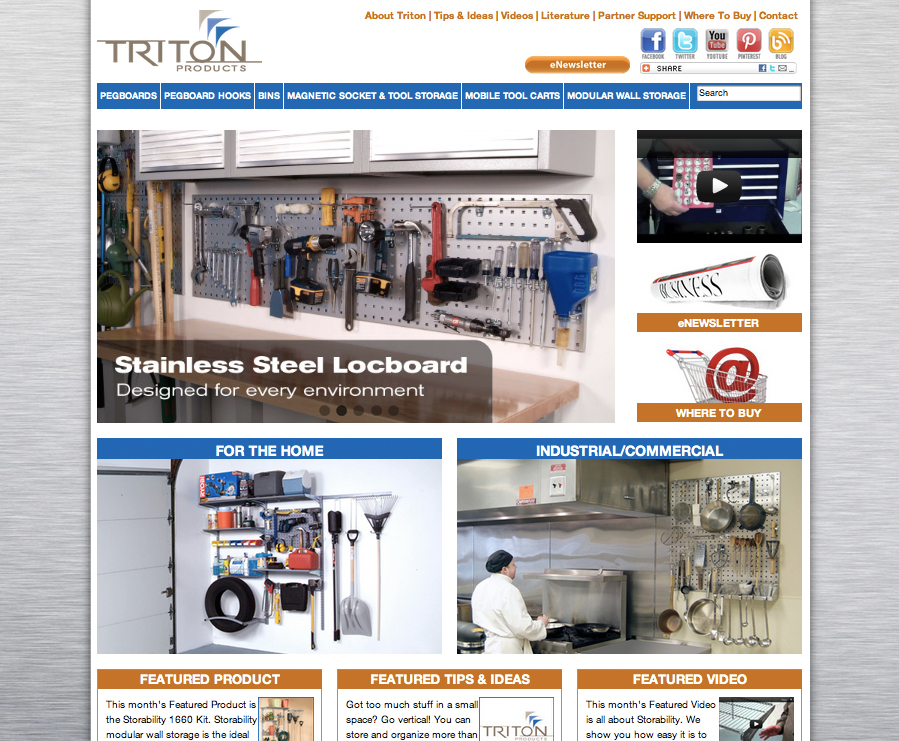 Triton Products Custom Wordpress Catalog Template